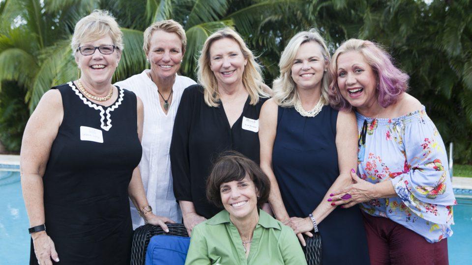 Debbie Korge, Tracy Kerdyk, Reception Host Lynn Kerdyk, Gina Guilford, Norma Jean Abraham and Kim Kerdyk (sitting)